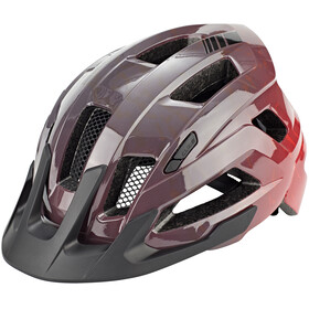 Cube Steep Casque, glossy grey'n'red